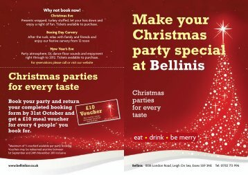 Make your Christmas party special at Bellinis - Mcmanus Pub ...