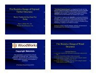 Fire Resistive Design of Exposed Timber Structures ... - WoodWorks