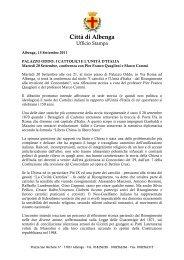 Albenga Palazzo Oddo - I Cattolici e l'Unità d'Italia - Comune Albenga