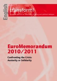 English EuroMemorandum 2010/2011 - Transform Network