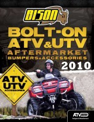 2010 Product Catalog .PDF - ATV & UTV Bumpers, Accessories