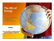 The 4Es of Energy - WasteWaterEnergy