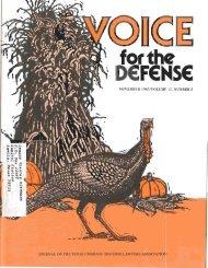 november 1983/volume 13, number 5 - Voice For The Defense Online