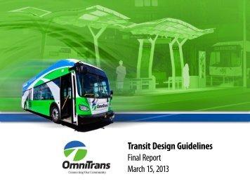 Draft Omnitrans Transit Design Guidelines 2013