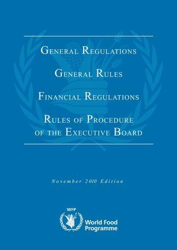 General Rule XIII.1 - WFP