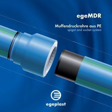 egeMDR Muffendruckrohre aus PE - Egeplast