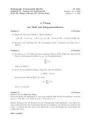 Technische Universität Berlin SS 2009 3. ¨Ubung zur Maß- und ...