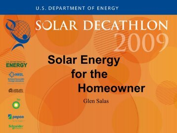 Solar Energy for the Homeowner - Solar Decathlon