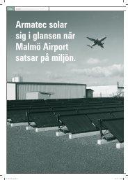 Armatec solar sig i glansen när Malmö Airport satsar på miljön.