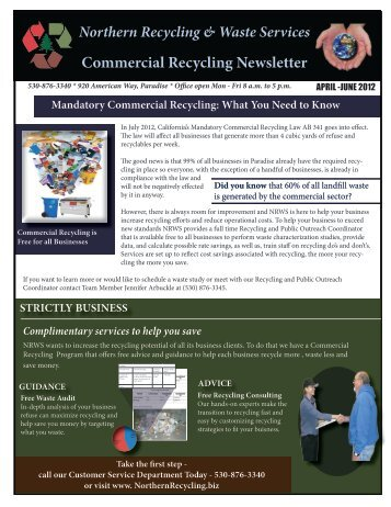 Commercial Recycling Newsletter - Northern Recycling and Waste ...