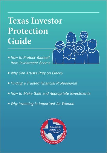 Texas Investor Protection Guide - Texas Investor Education