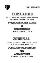 JOURNAL Vol. 19 Book 2 - Технически Университет - София ...
