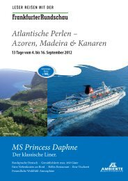 Azoren, Madeira & Kanaren - Frankfurter Rundschau