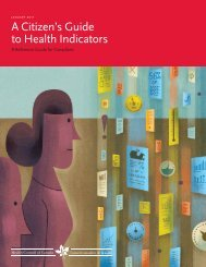 A Citizen's Guide to Health Indicators - Institute of Health Economics