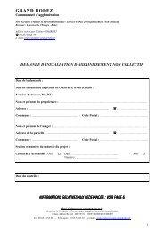 Télécharger le formulaire - La Communauté d'agglomération du ...