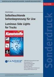 Selbstleuchtende Seitenbegrenzung für Lkw - Günther ...
