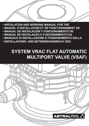 system vrac flat automatic multiport valve (vsaf) - VitaPiscine