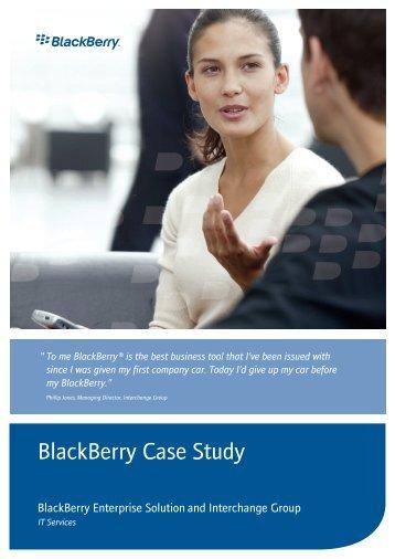 BlackBerry Case Study - The Interchange Group UK