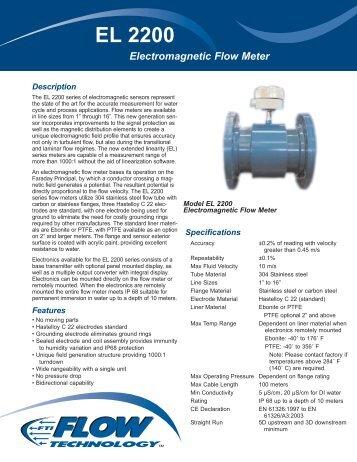 EL 2200 Series Electromagnetic Flow Meter