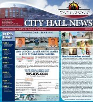 In This Issue: - City of Port Colborne