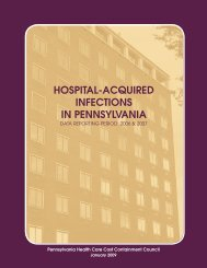 Hospital-acquired Infections Report - Pennsylvania Health Care ...