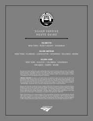 SILVER SERVICE ROUTE GUIDE - Amtrak