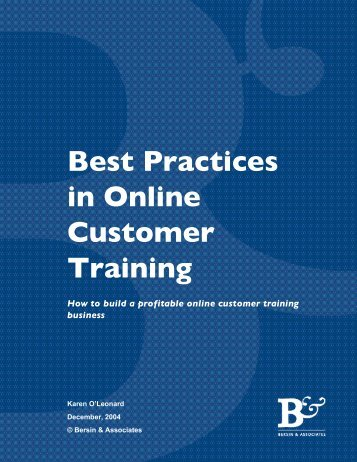Best Practices in Online Customer Training - Pttmedia.com ...