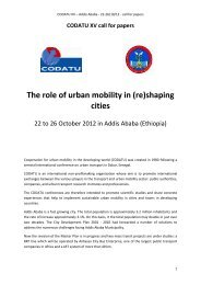 The role of urban mobility in (re)shaping cities