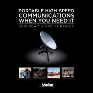 SurfBeam 2 Pro Portable Terminal Brochure - ViaSat
