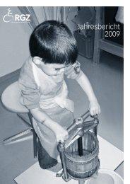 Jahresbericht 2009 - RGZ Stiftung, zugunsten cerebral Gelähmter