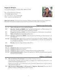 Curriculum Vitae - Centre International de Recherche sur l ...