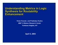 Understanding Metrics in Logic Synthesis for Routability ... - SLIP