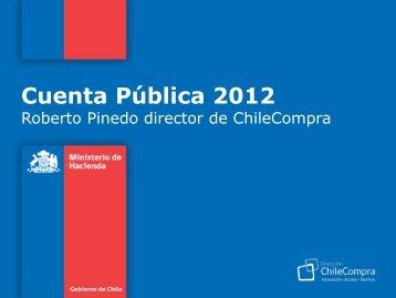 Cuenta Pública 2012 - ChileCompra