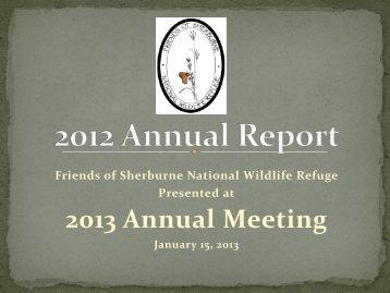 Friends of Sherburne 2012 Annual Report