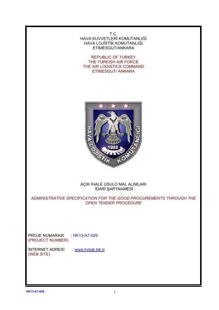 Tc Hava Kuvvetleri Komutanla Aÿa Hava Lojistik Komutanla