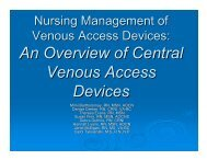 An Overview of Central Venous Access Devices - Mghpcs.org