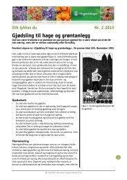 Gjødsling til hage og grøntanlegg - Hageselskapet