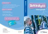 Brosjyre skoleskyss vidaregåande skule - Videregående skoler