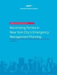 White Paper—Maximizing Ferries in New York City's Emergency ...