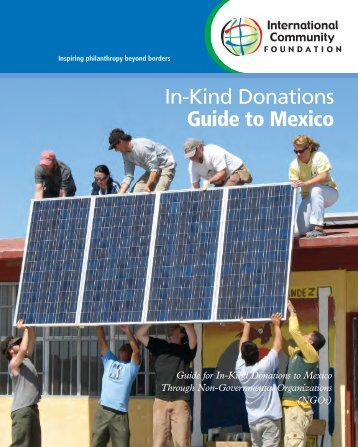 In-Kind Donations to Mexico - International Community Foundation