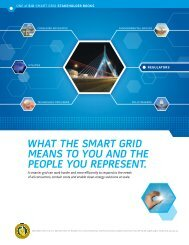what the smart grid means to you and the people you represent.