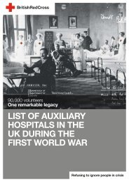 List of auxiliary hospitals in the UK during the First World War