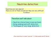 Neutrino detection