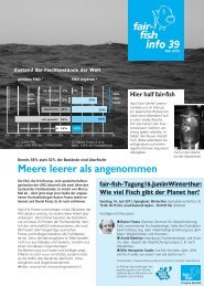 info 39 Meere leerer als angenommen - Fair Fish