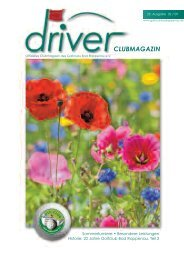 Driver 2 / 2009 als pdf - beim Golfclub - Bad Rappenau eV