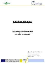 Business Proposal Scholing thematiek WiB regulier onderwijs