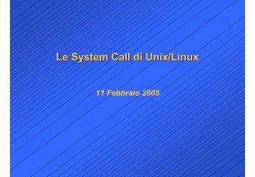System call - Processi, thread