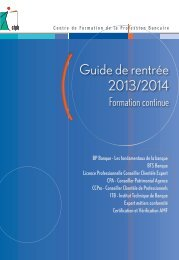 [PDF] - Guide de rentrée 2013-2014 - CFPB