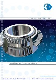 PSL Catalog of rolling Bearings - Industrial Technologies