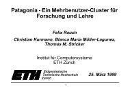 Patagonia - Ein Mehrbenutzer-Cluster für Forschung ... - ETH Zürich